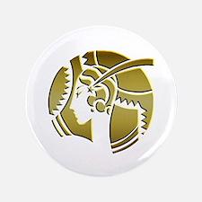 """Golden Art Deco Lady 3.5"""" Button"""