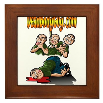 Official Dead Body Guy Framed Tile