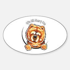 Chow Chow IAAM Sticker (Oval)