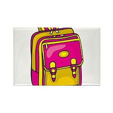 Girl's Backpack Rectangle Magnet