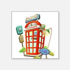 Phone Booth Sticker