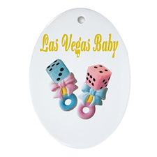 Las Vegas Baby Dice Rattles Oval Ornament