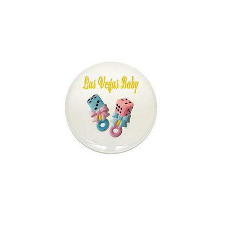 Las Vegas Baby Dice Rattles Mini Button