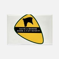 Save a horse ride a cav scout Rectangle Magnet
