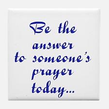Be an answer plain Tile Coaster