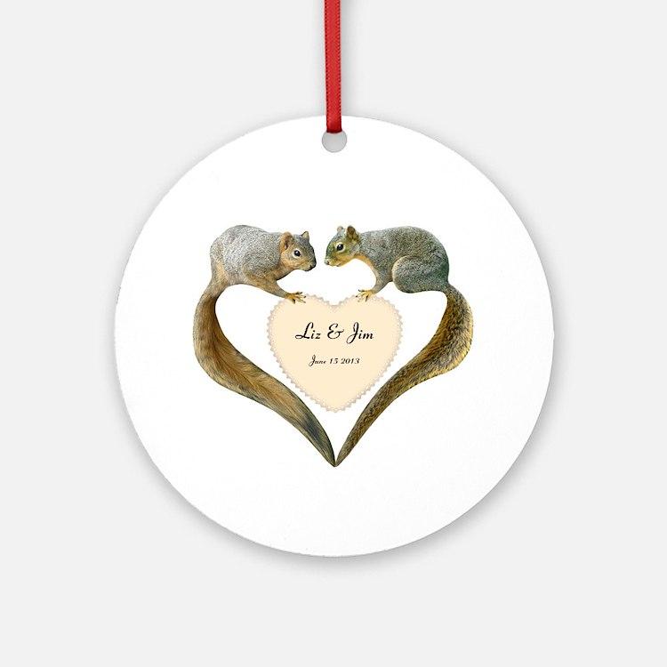 Love Squirrels Ornament (Round)