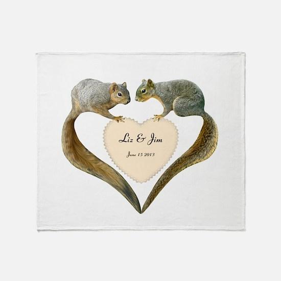 Love Squirrels Throw Blanket