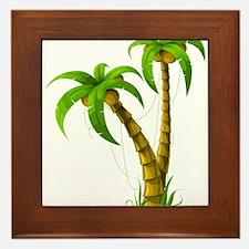 Cocunut Tree Framed Tile