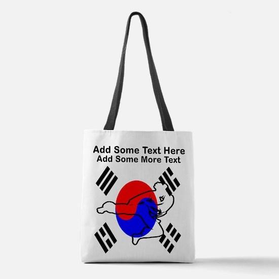 Taekwondo Polyester Tote Bag