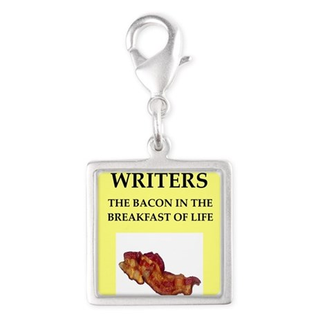 writer Silver Square Charm