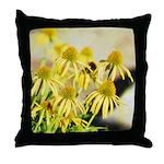 yellow echinacea flowers Throw Pillow