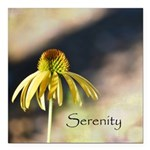 yellow echinicea serenity Square Car Magnet 3