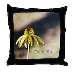 yellow echinicea serenity Throw Pillow