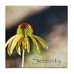 yellow echinicea serenity Tile Coaster
