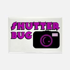 Shutterbug Pink Rectangle Magnet