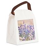 pretty lavender Canvas Lunch Bag