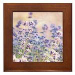 pretty lavender Framed Tile