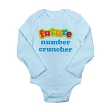 Future Number Cruncher Long Sleeve Infant Bodysuit