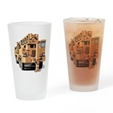 Caterpillar construction Drinking Glass