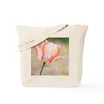 Peach Tulip Flower Tote Bag