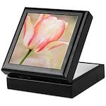 Peach Tulip Flower Keepsake Box