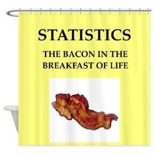 statistics Shower Curtain