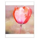 Red Tulip Flower Small Poster