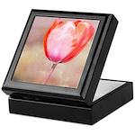 Red Tulip Flower Keepsake Box