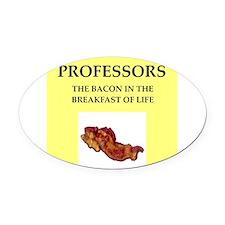 professor Oval Car Magnet
