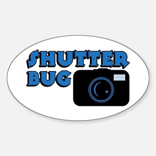 Shutterbug Blue Oval Decal