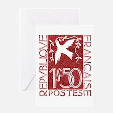 1934 France Dove and Olive Branch Postage Stamp Gr