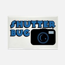Shutterbug Blue Rectangle Magnet