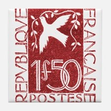 1934 France Dove and Olive Branch Postage Stamp Ti