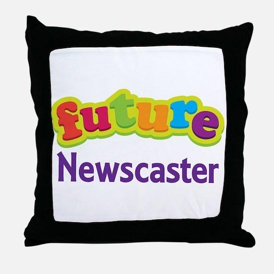 Future Newscaster Throw Pillow