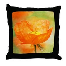 orange iceland poppy Throw Pillow