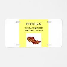 physics Aluminum License Plate