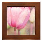 pink tulips Framed Tile