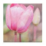 pink tulips Tile Coaster