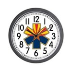 Arizona Star Of Life Wall Clock