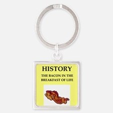 history Square Keychain