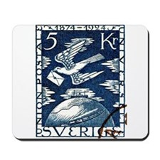1924 Sweden Carrier Pigeon Postage Stamp Mousepad