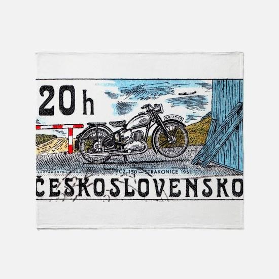 1975 Czechoslovakia Motorcycle Postage Stamp Stad