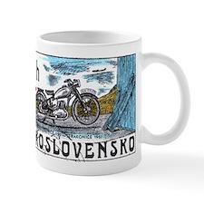 1975 Czechoslovakia Motorcycle Postage Stamp Small Mug