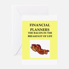 financial planner Greeting Card