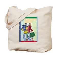 Holiday Shoppers Tote Bag