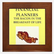 financial planner Framed Tile
