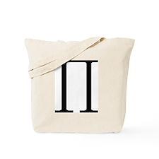 Greek Pi symbol Tote Bag