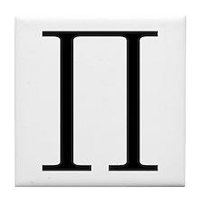 Greek Pi symbol Tile Coaster