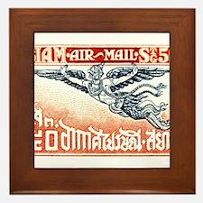 Antique Thailand 1925 Garuda Postage Stamp Framed