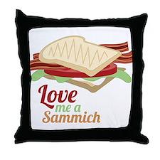 Love Me a Sammich Throw Pillow